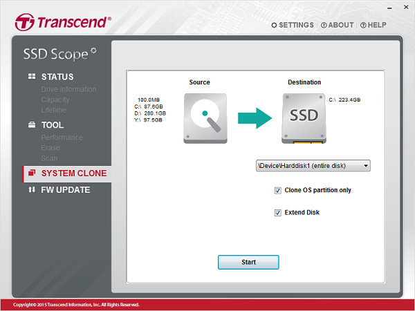 Close SSD using the software