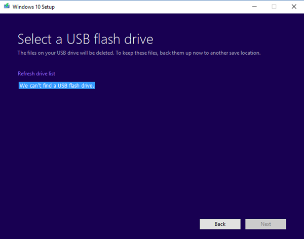 is i of the favorite ways to upgrade Windows  We can't notice a USB flash crusade – Windows 10 Setup error