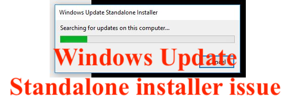 Windows Installer Keep Searching for updates