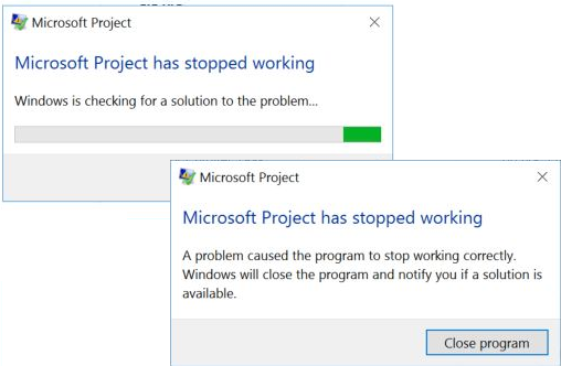 Windows is checking for a solution to the problem