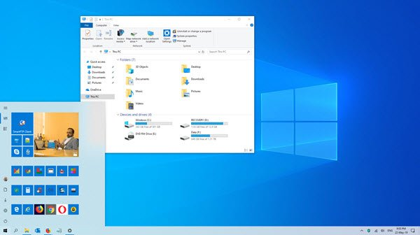 windows 10 light mode theme