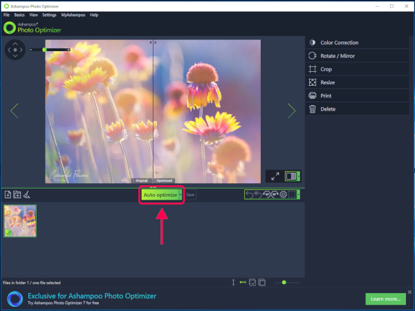 Basic photograph editing is a elementary business these days Optimize as well as resize images amongst Ashampoo Photo Optimizer