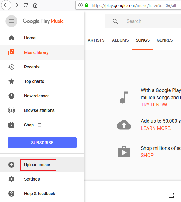 Can't establish a secure connection with Google Play Music