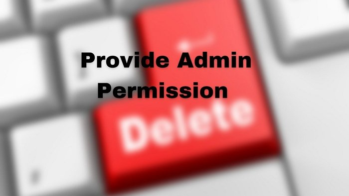 You'll need to provide administrator permission to delete this folder