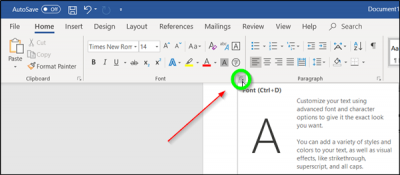 How to change default font in Word, Excel, PowerPoint for Windows 10