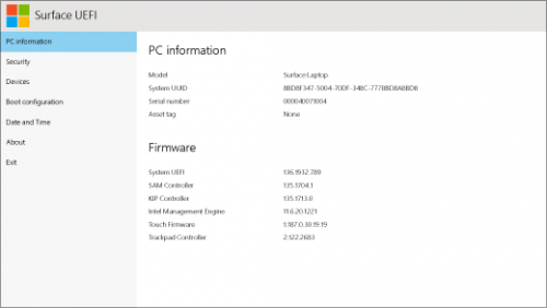 How to boot into UEFI Mode on a Microsoft Surface Device