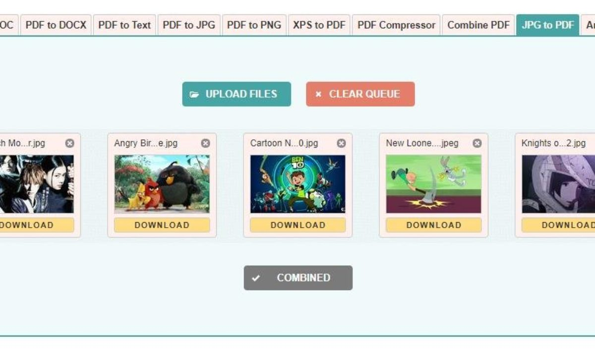 Convert Jpg Png Images To Pdf Using Online Tools Or Free Software
