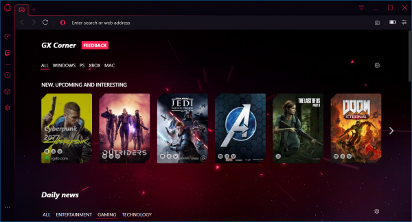 Opera GX - The browser made especially for gamers