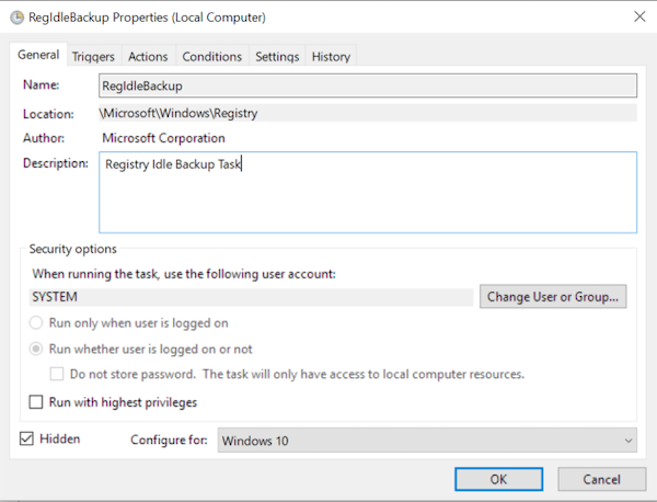 which stores all necessary configuration of Windows OS Make Windows 10 automatically backup Registry to RegBack folder
