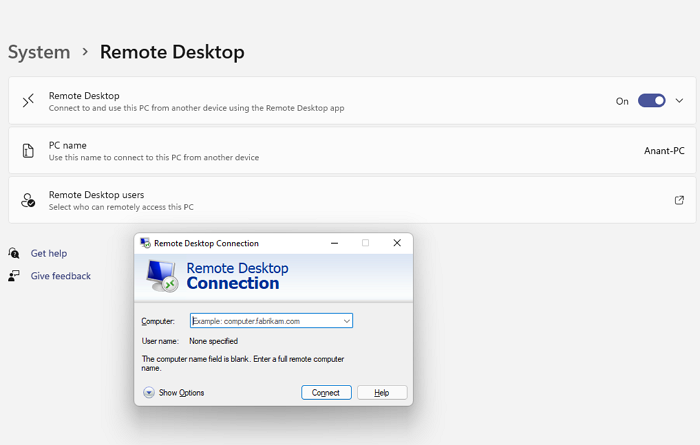 Remove History entries from Remote Desktop Connection in Windows 11/10
