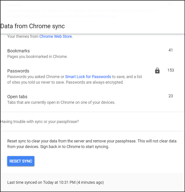 How to recover saved passwords from synced devices in Google Chrome