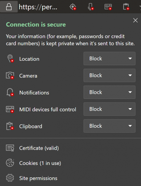 contains capabilities for the user to customize the permissions given to a detail spider web How to handle Site permissions on novel Microsoft Edge browser