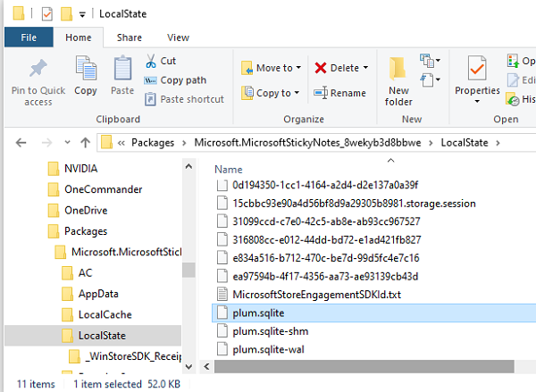it stores all the information inward a database named  Where are Sticky Notes saved inward Windows 10 – Location