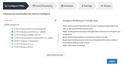 virtual machines is every bit of import every bit a backup upward Windows  Best gratuitous Backup software for VMware in addition to Hyper-V virtual machines