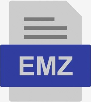 What is an EMZ file and how do I open it