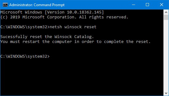is a technical specification or a programming interface which decides how whatever programme han How to reset Winsock inwards Windows 10