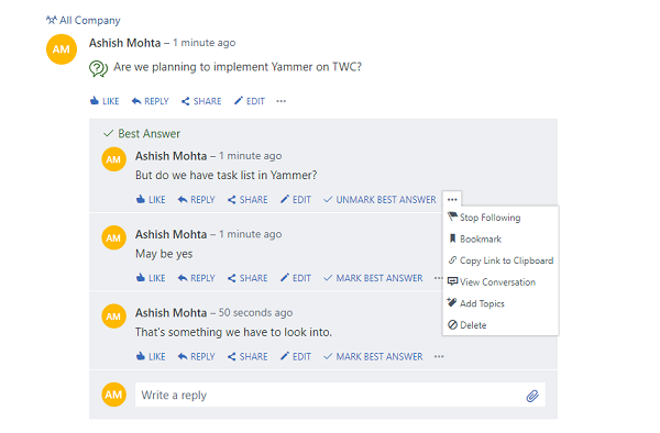Yammer Tips and Tricks