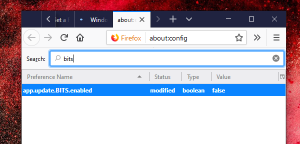 Disable Bits in Firefox