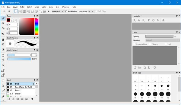 FireAlpaca lets you create picture and draw comic strip