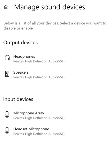 Headphones not working after installing an update