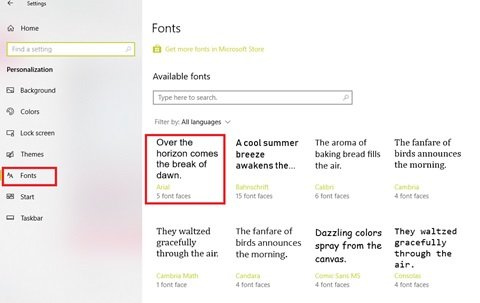 add or install new font styles in Microsoft Office