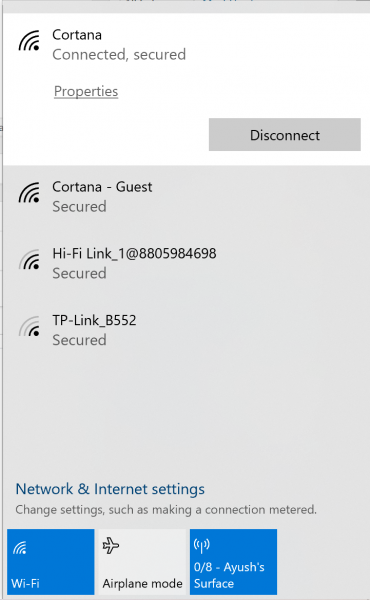 Mobile Hotspot not showing up or detected on laptop