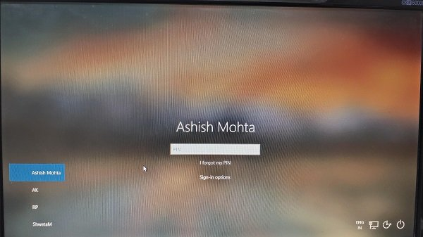remove default Windows 10 Sign in picture