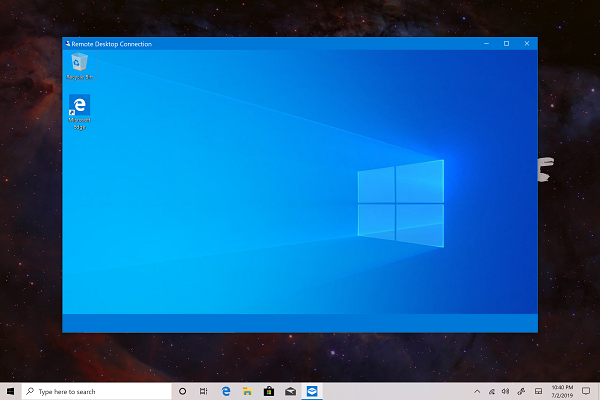 Taskbar not visible on remote computer when accessed using RDP