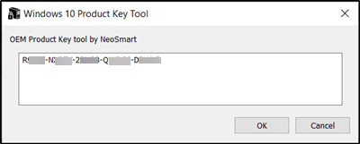 find out Windows 10 OEM Product Key