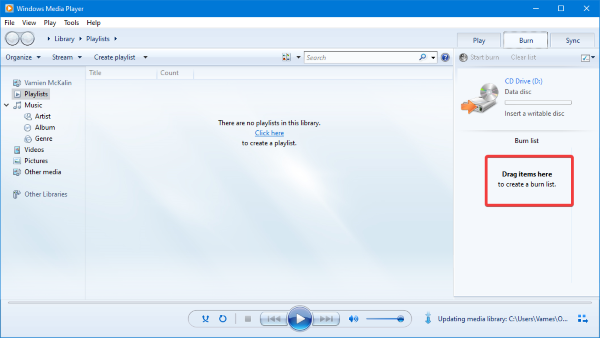Windows Media Player cannot detect the length of the file