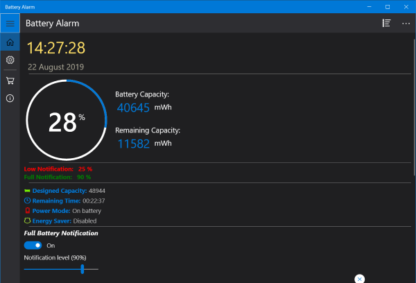 Battery Limiter software for Windows 10