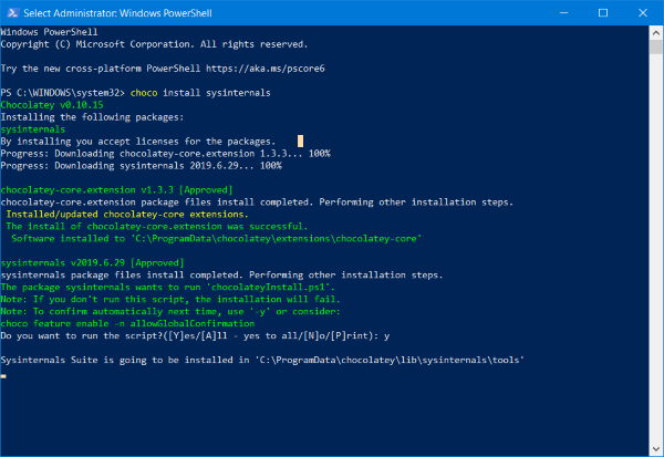 Chocolatey Package Manager for Windows