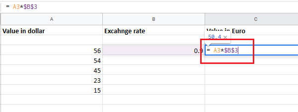 Convert currencies in Excel