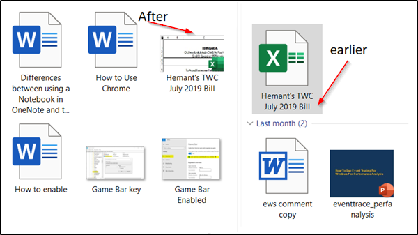 display the first page of an Office document as its icon