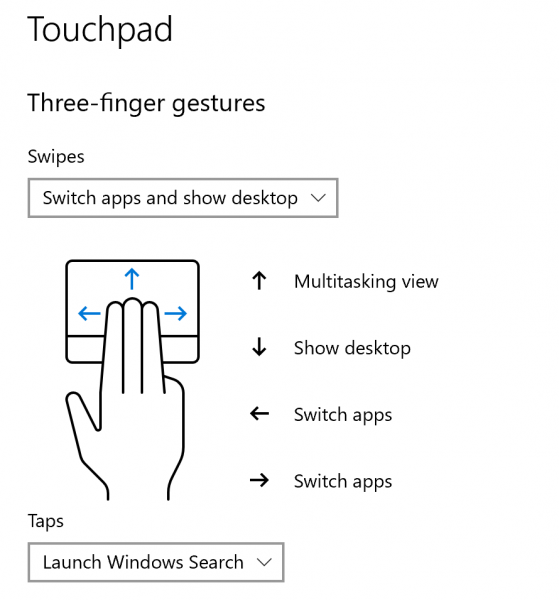 Fix TouchPad gesture not working on Windows 10