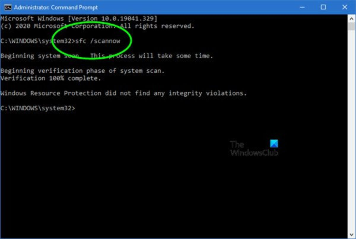 How to Run System File Checker sfc /scannow in Windows 10