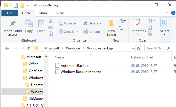 Delete Windows Backup Tasks