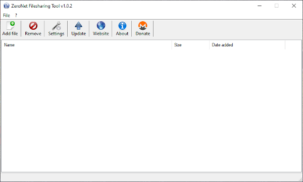 ZeroNet Filesharing Tool for Windows