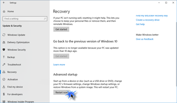 boot into firmware
