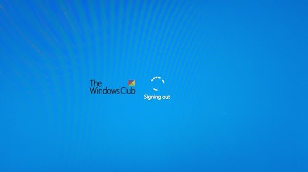 Windows 10 stuck on signing out screen