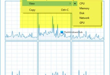 Windows Task Manager Summary View