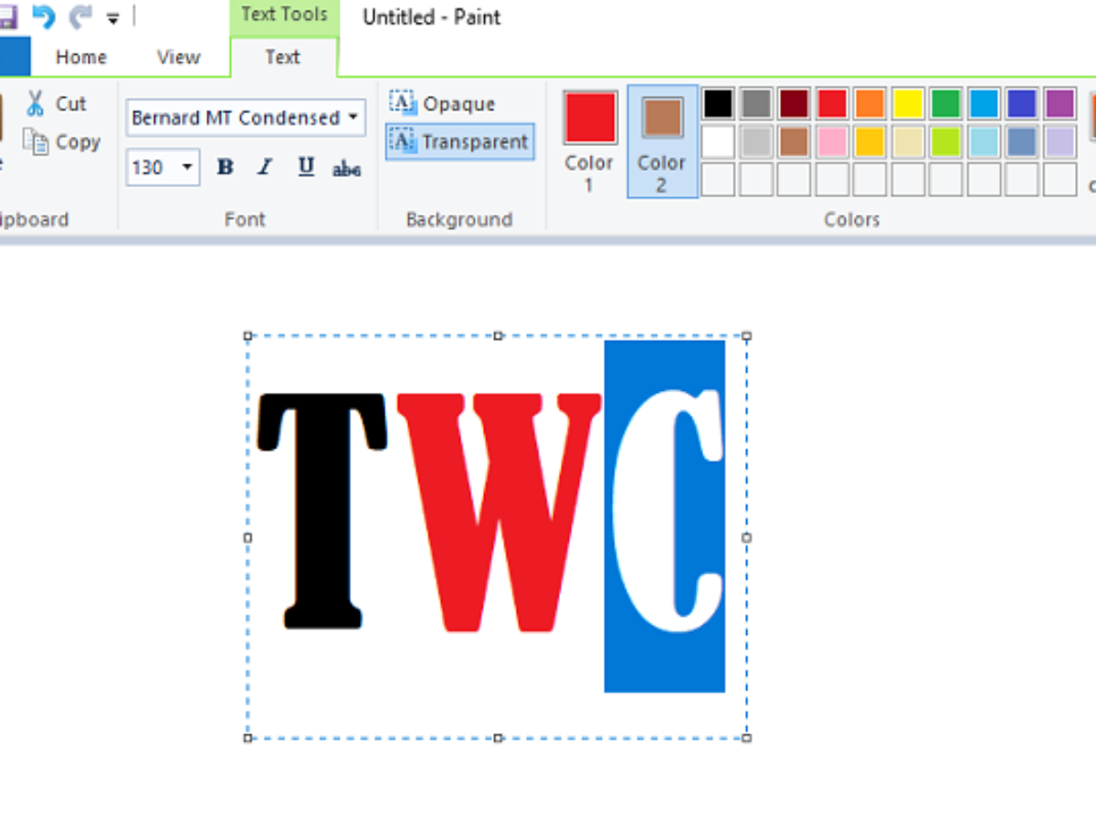 How To Add Text And Change Color Of Font In Ms Paint In Windows 10