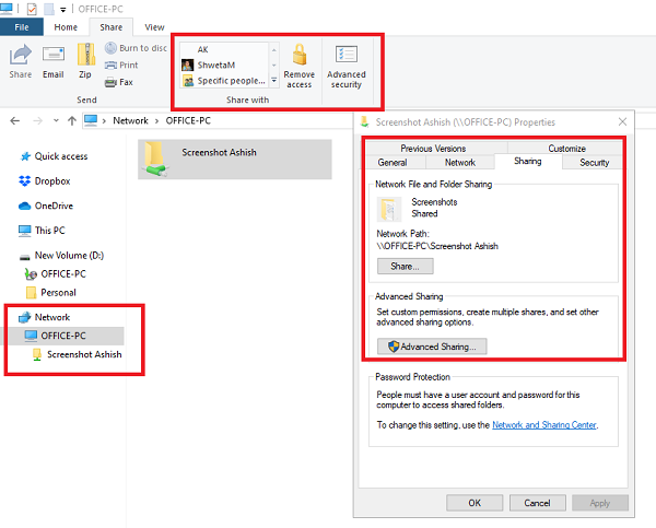 Find Shared Files in Network File Explorer