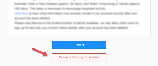 How to deactivate and delete Yahoo account permanently