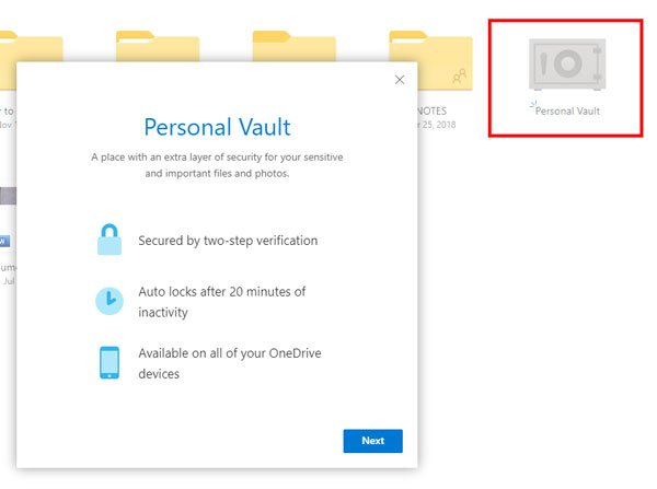 How to set up OneDrive Personal Vault