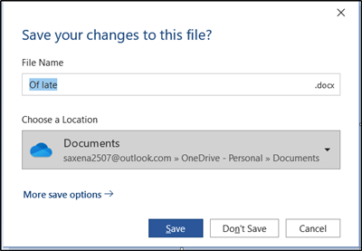 Restore old 'Save as' dialog for Office 365 apps
