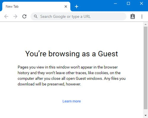guest mode in chrome