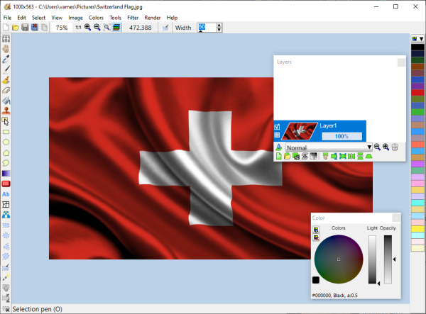 LazPaint image editor for Windows 10