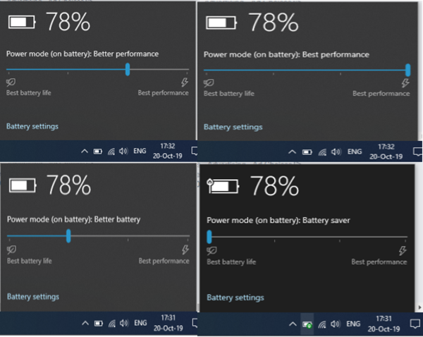 How to change Power Mode Level in Windows 10