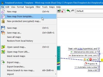 Freeplane mind mapping software